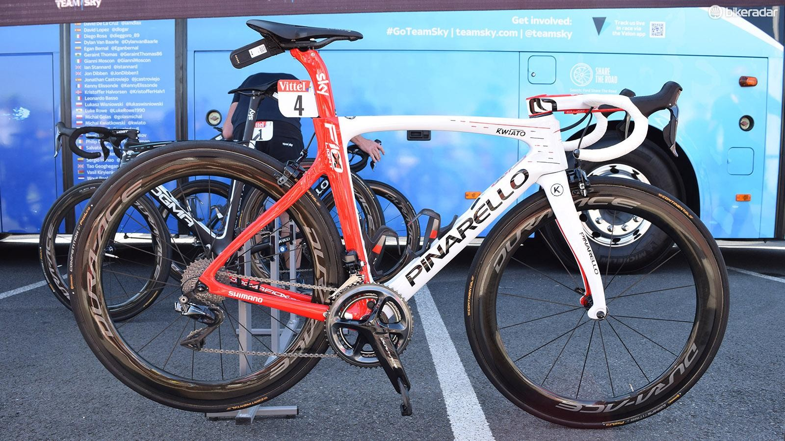 Michal Kwiatkowski's custom painted Pinarello Dogma F10 X-Light