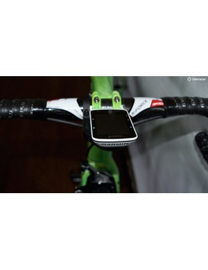 The Frenchman opts for a Garmin Edge 520 computer