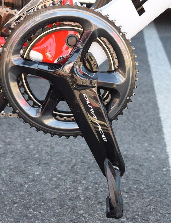 For stage four of the Tour de France, Kwiatkowski opted for 54/42 chainrings on his Shimano Dura-Ace R9100-P crankset