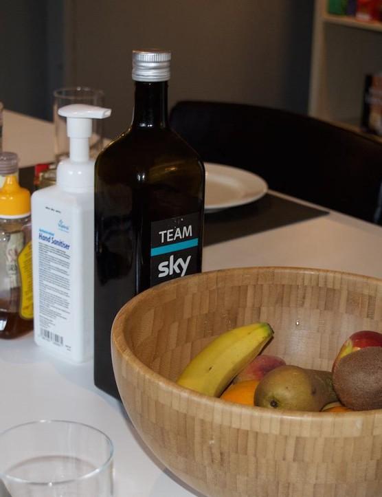 Team Sky branded olive oil