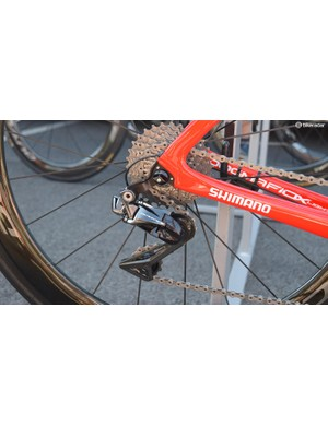 Pinarello has recently designed and produced a direct mount rear derailleur hanger for its framesets, which Team Sky first used during the spring Classics