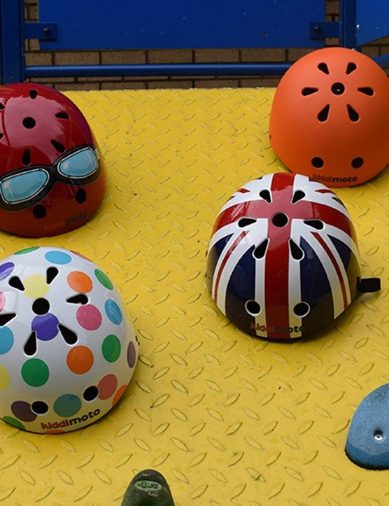 16 helmet designs are available and are customisable with your child's name