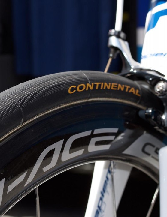 Dura-Ace C50 wheels and Continental rubber