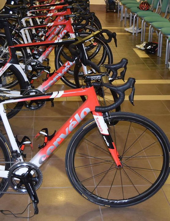 Team Sunweb's new Cervelos ahead of a training ride in Calpe, Spain