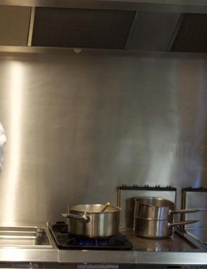 Henrik Orre prepares breakfast in the kitchen