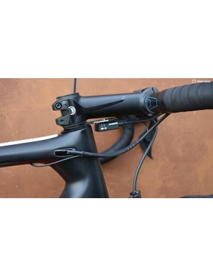 Fouriers supplies a neat Di2 junction box mount that sits under the stem
