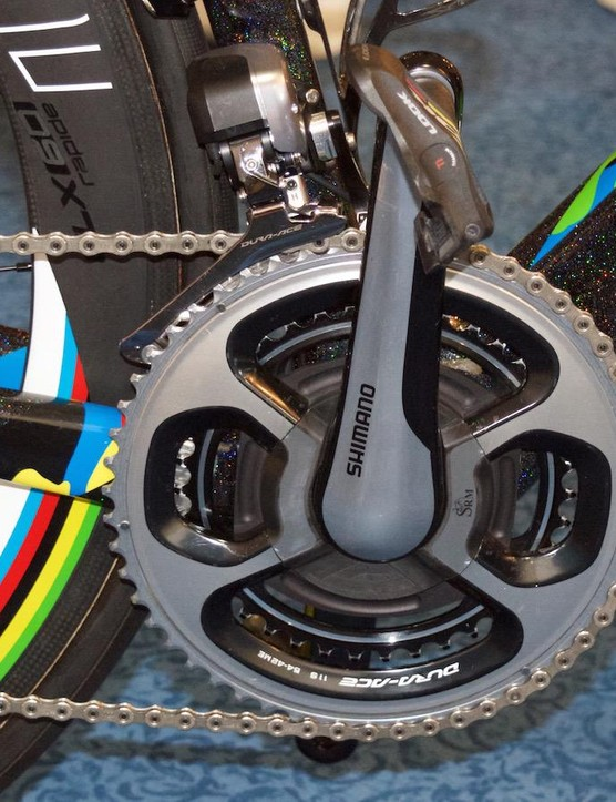 Peter Sagan uses a big 54-42 Shimano Dura-Ace chainring