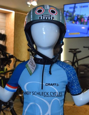 A mannequin shows off the shop's jersey