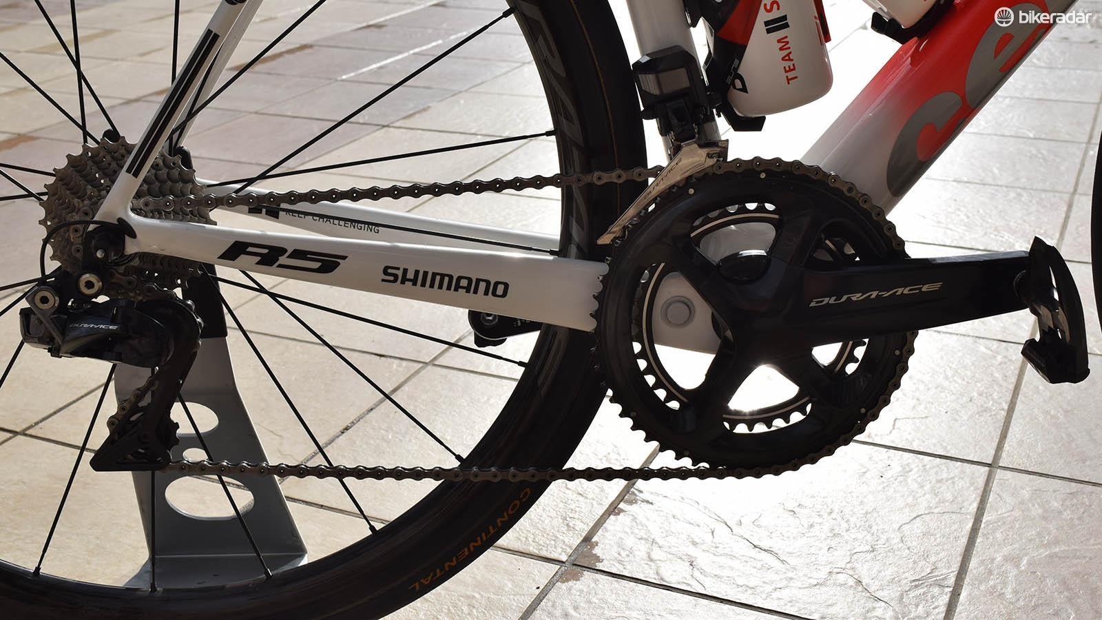 Like last season's Giants, Team Sunweb is using Shimano Dura-Ace R9100 series drivetrains