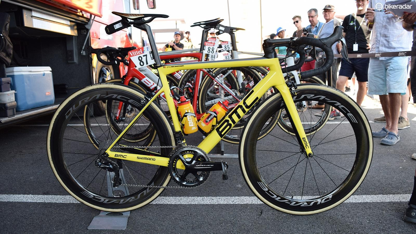 Greg Van Avermaet's cutom painted BMC Teammachine SLR01