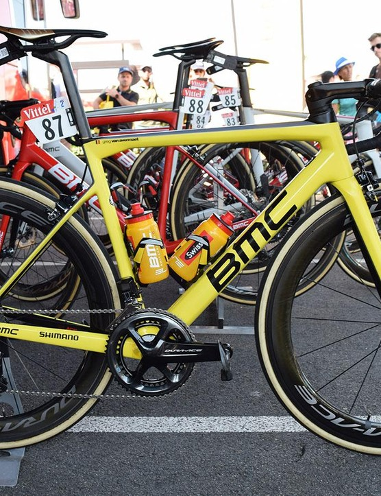 Greg Van Avermaet's cutom painted BMC Teammachine SLR01