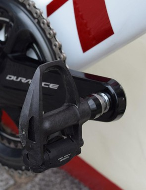Shimano Dura-Ace R9100 pedals are widely used in the WorldTour peloton