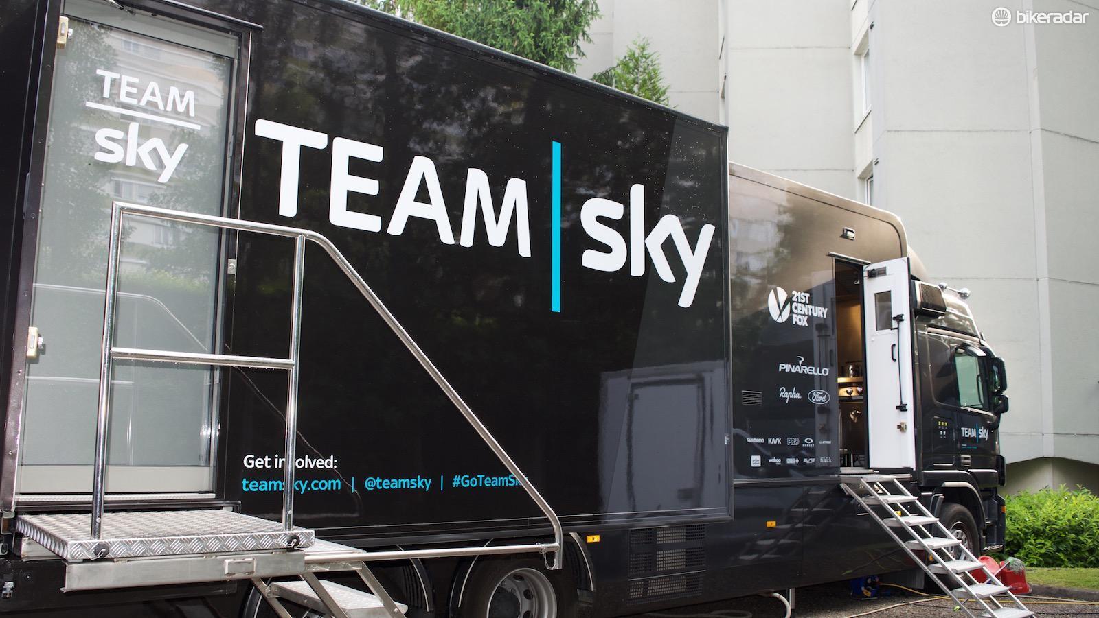 The Team Sky kitchen truck
