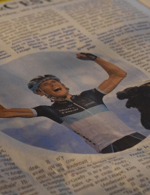 When your newspaper cuttings are of you winning a Tour de France stage, they're worth keeping
