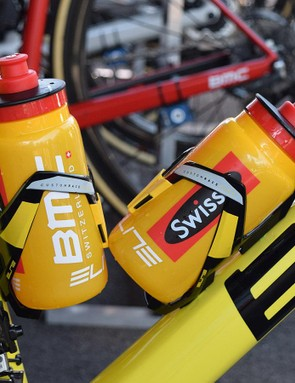 Alongside the frameset, Elite has provided Van Avermaet with matching bottle cages and bidons to celebrate Van Avermaet's yellow jersey