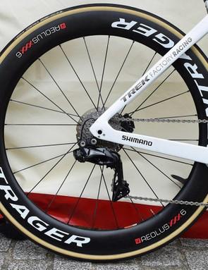 Degenkolb's Madone was paired with Bontrager Aeolus XXX 6 wheels for the earlier stages of the race