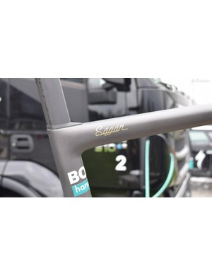 Sagan's name adorns the top tube of the special frame