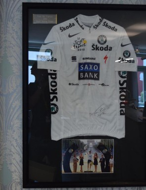 Andy Schleck's 2010 Tour de France white jersey (he also took victory following Contador's ban)
