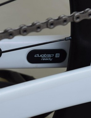 Trek also integrates a Bontrager speed sensor into the chainstay