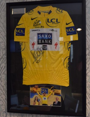 Fabian Cancellara's yellow jersey from the opening stage of the Tour de France in 2009