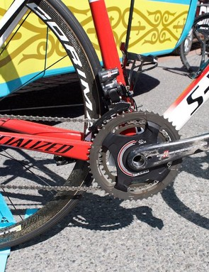Astana use Campagnolo components and SRM power metres