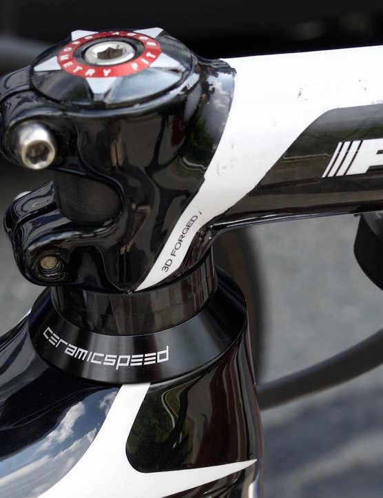 The Specialized is equipped with CeramicSpeed headsets and bottom brackets