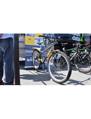 Dimension Data usually bring a Qhubeka Buffalo Bike to races, which the team carers regularly use to collect water or ice ahead of stages and to promote the charity