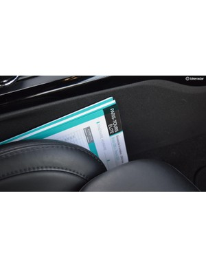 The Paris-Tours race book still sits in the car from the previous week's racing