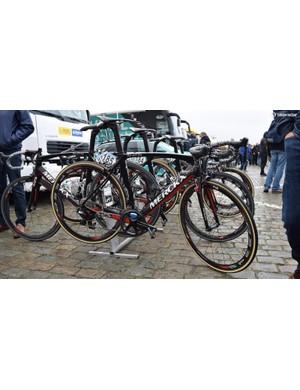 Topsport Vlaanderen-Baloise race aboard Merckx 525 bikes
