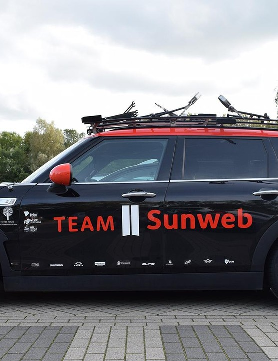 Team Sunweb's Mini Cooper Clubman SD team car