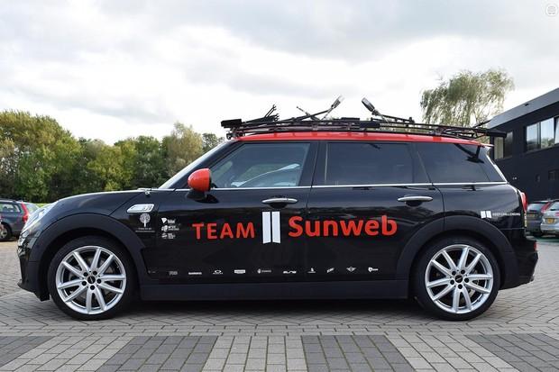 Team Sunweb's Mini Cooper Clubman SD team car