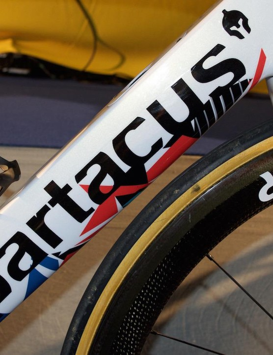 The colours of the graphics represent the rider's teams over his 16-year professional career