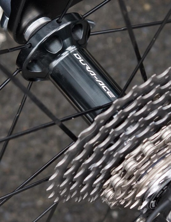 A closer look at the rear hub and cassette