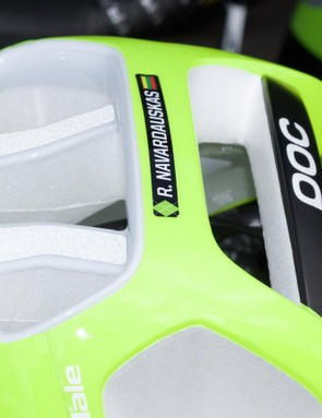Reflective strips at the rear of the helmet improve nighttime visibility