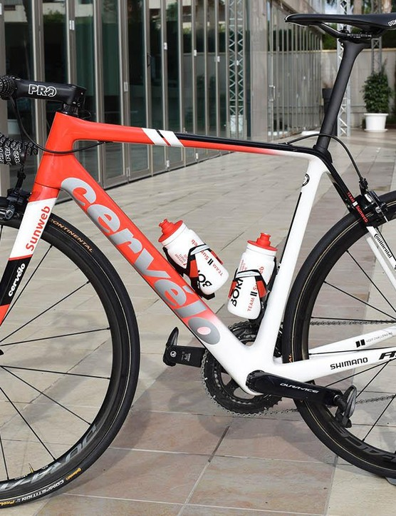 A look at the non-driveside of Dumoulin's bike
