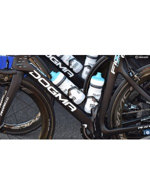 The opening stages of the race experienced temperatures over 30 degrees and Team Sky opted for larger bidons for some of the stages