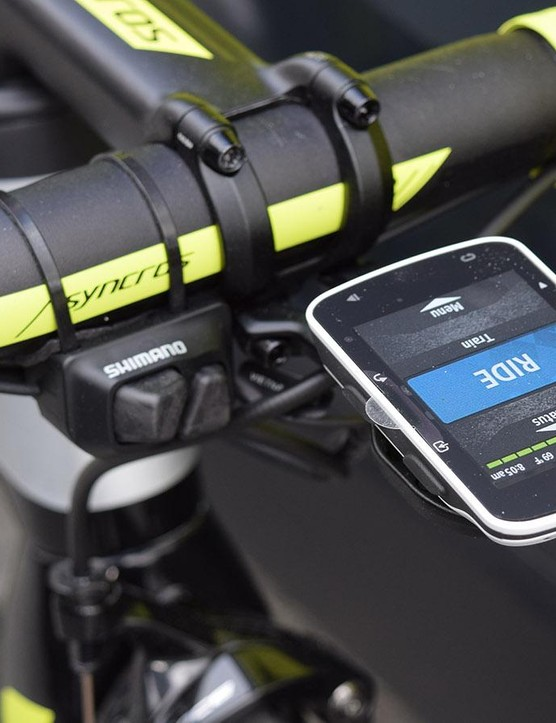 Yates uses a Garmin Edge 520 computer