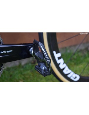 Unlike the men's bikes, the Liv was equipped with the slightly older Dura-Ace 9000 series pedals