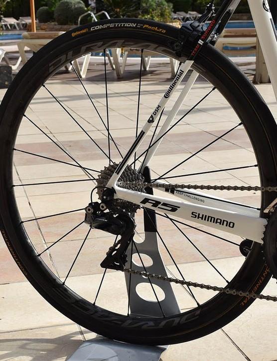 Tom Dumoulin runs the C24 variants of Shimano's Dura-Ace R9100 wheels