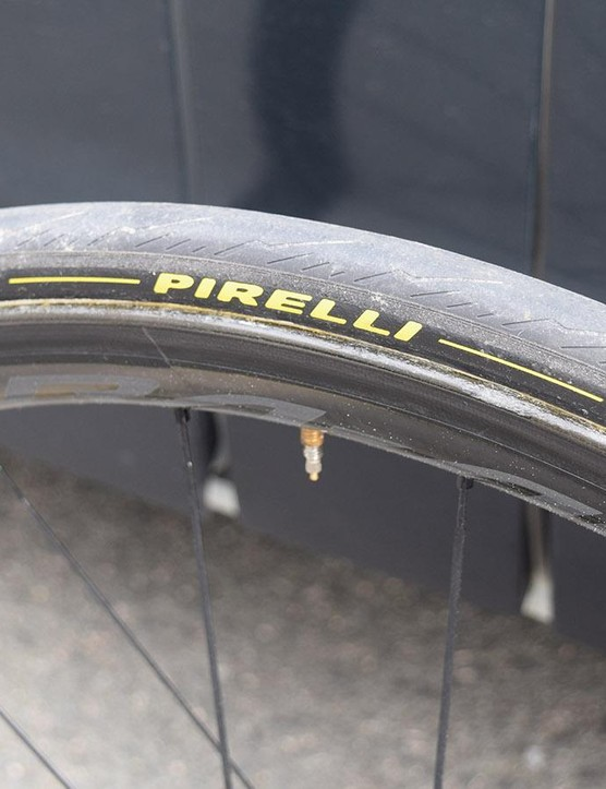 A closer look at the Pirelli tyres