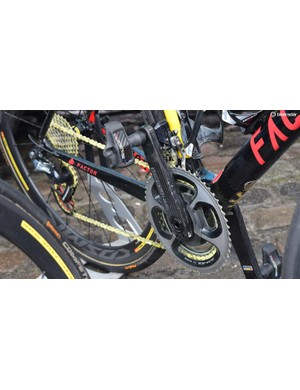 Oliver Naesen's used a CeramicSpeed UFO chain in a colour-coordinated yellow finish for the Belgian national champion