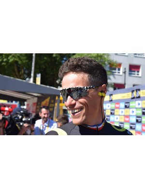 Sylvain Chavanel (Direct Energie) is racing a record 18th Tour de France with custom Oakley Radar EV sunglasses