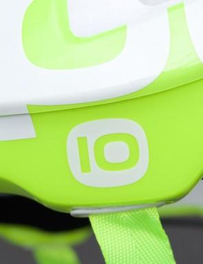 The helmet celebrates POC's tenth anniversary