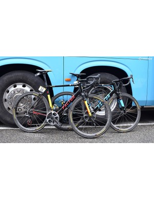 Oliver Naesen's custom Factor O2 and Romain Bardet's Factor ONE