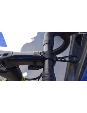 A single, larger than usual fastening bolt at the top of the face plate is positioned at appoximately 45 degrees