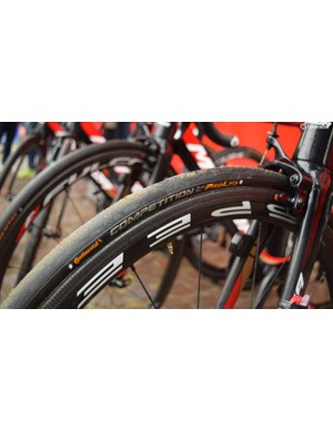 25mm Continental Competition RBX tubulars were used by several teams for the 2018 Tour of Flanders
