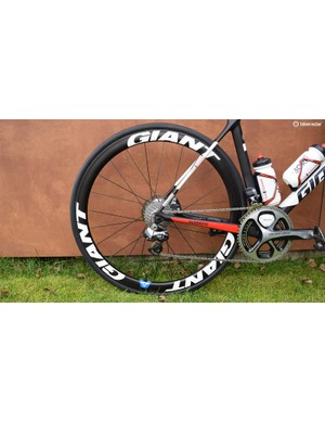 The development team ride the same Giant SLR wheels as the men's and women's teams