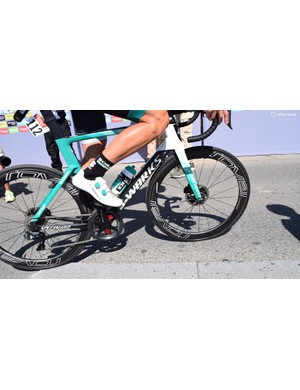 Bora-Hansgrohe riders have worn S-Works 7 shoes with colour-coordinated Boa dials