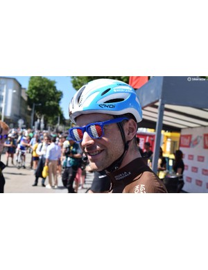 Tony Gallopin wore these sunglasses thankfully just for race sign-on and not the race itself