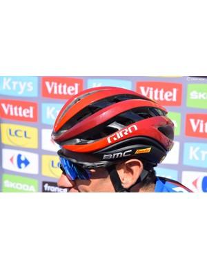 A closer look at Porte's Giro Aether helmet